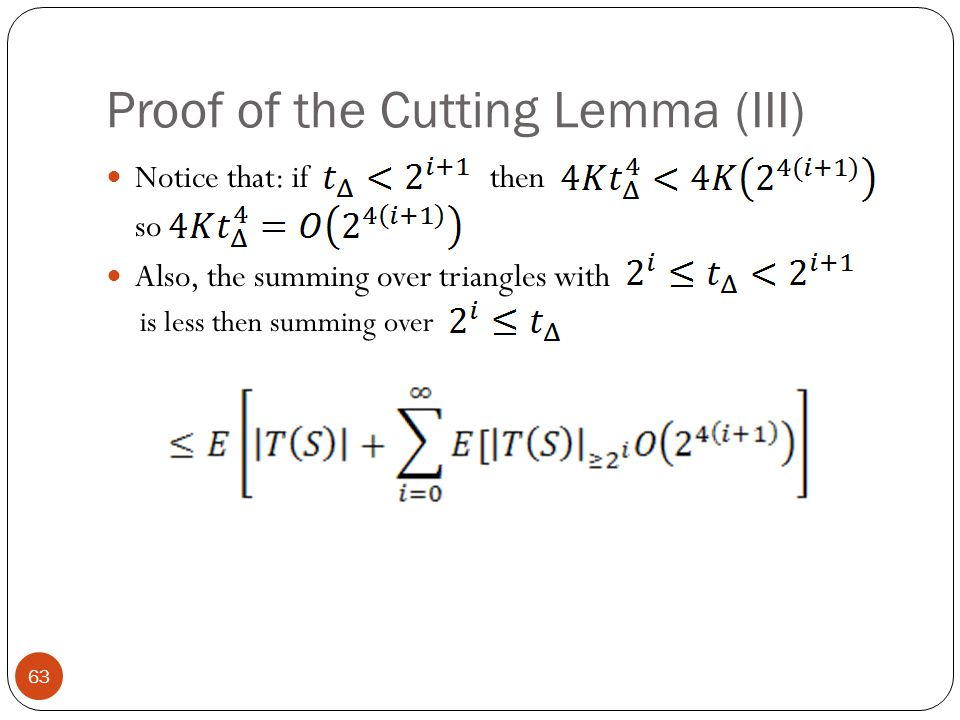 Proof of the Cutting Lemma (III)