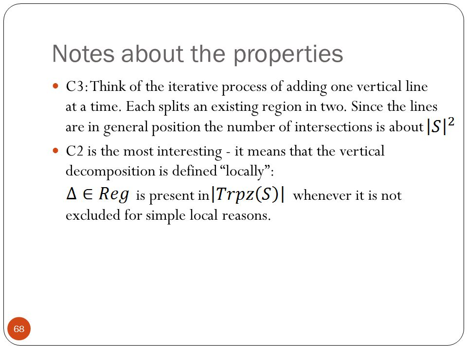 Notes about the properties