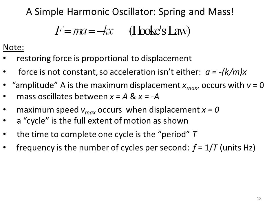 A Simple Harmonic Oscillator: Spring and Mass!
