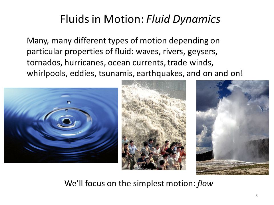 Fluids in Motion: Fluid Dynamics