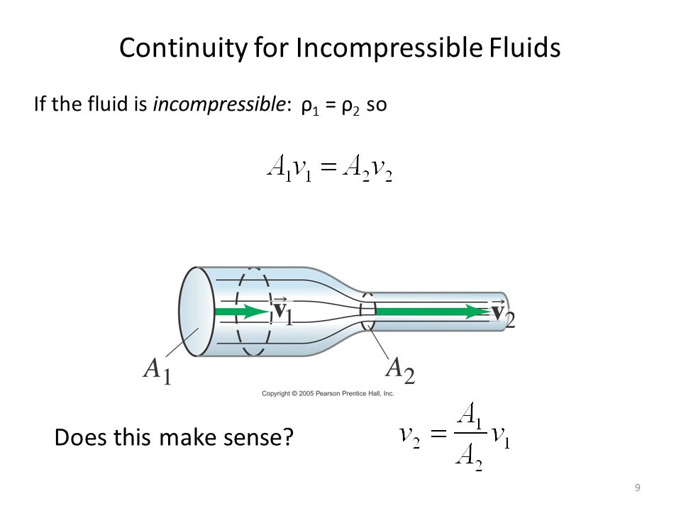 Continuity for Incompressible Fluids