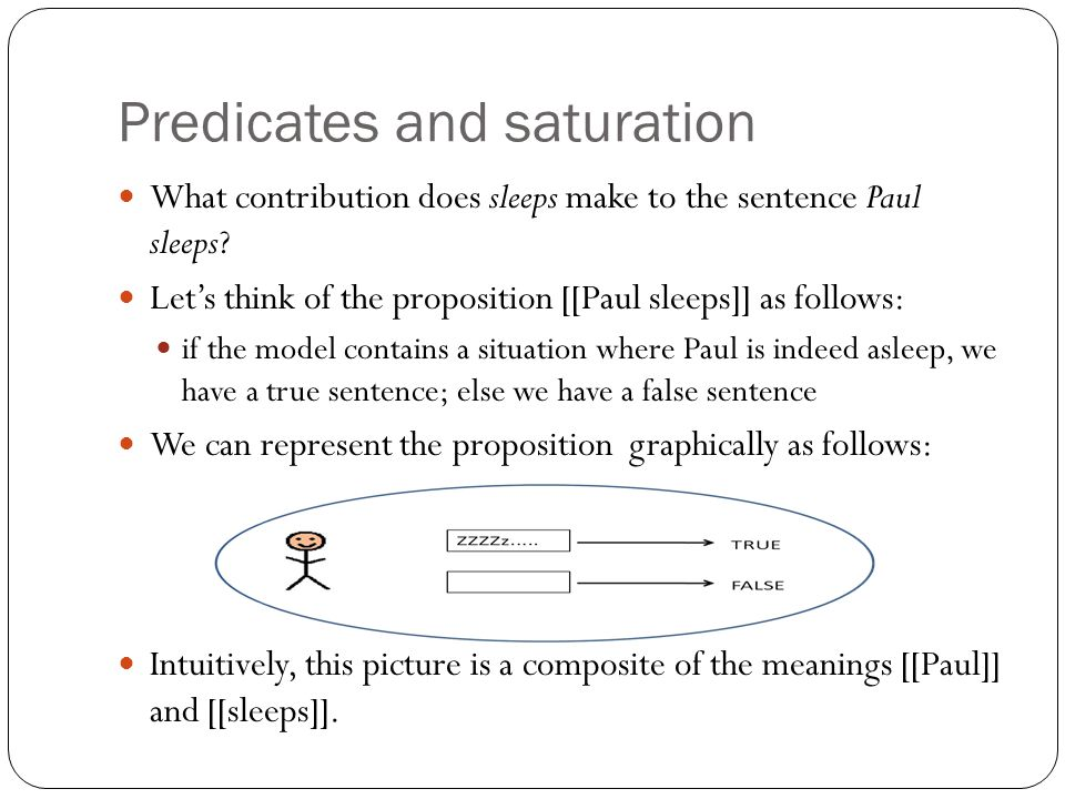 Predicates and saturation