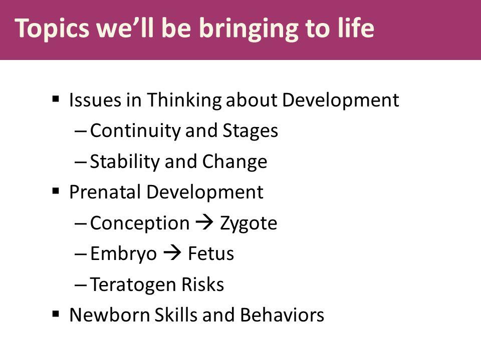 Topics we'll be bringing to life