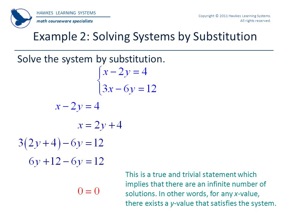 Example 2: Solving Systems by Substitution