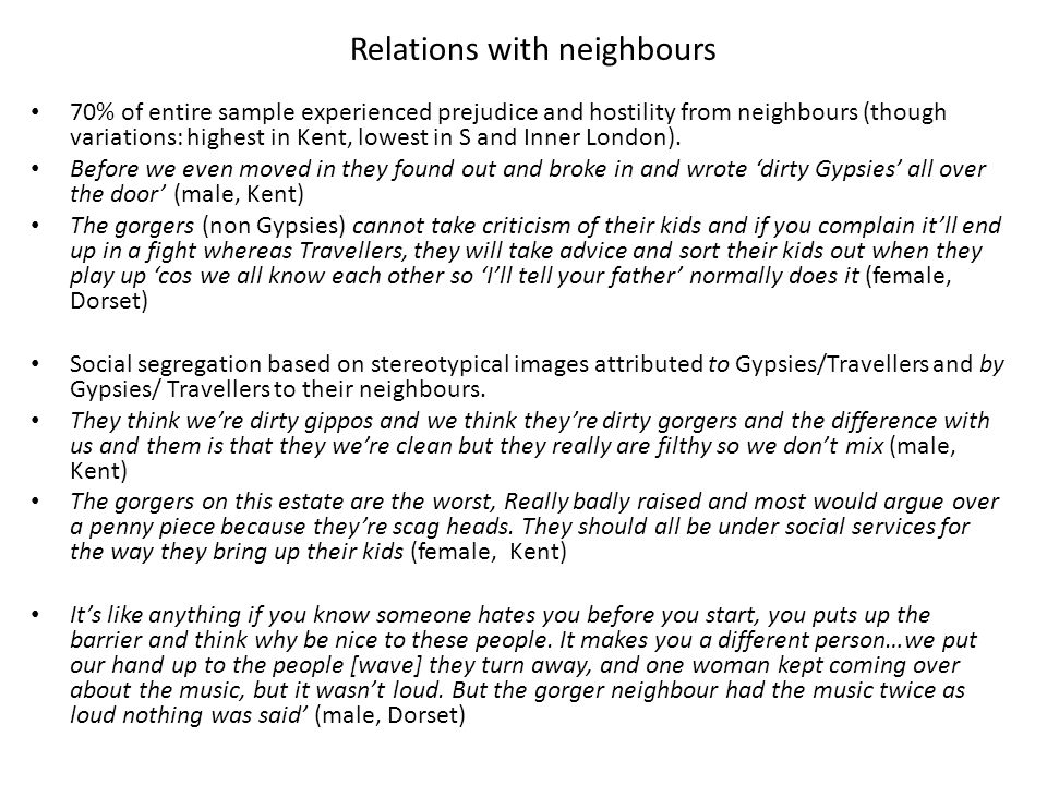 Relations with neighbours
