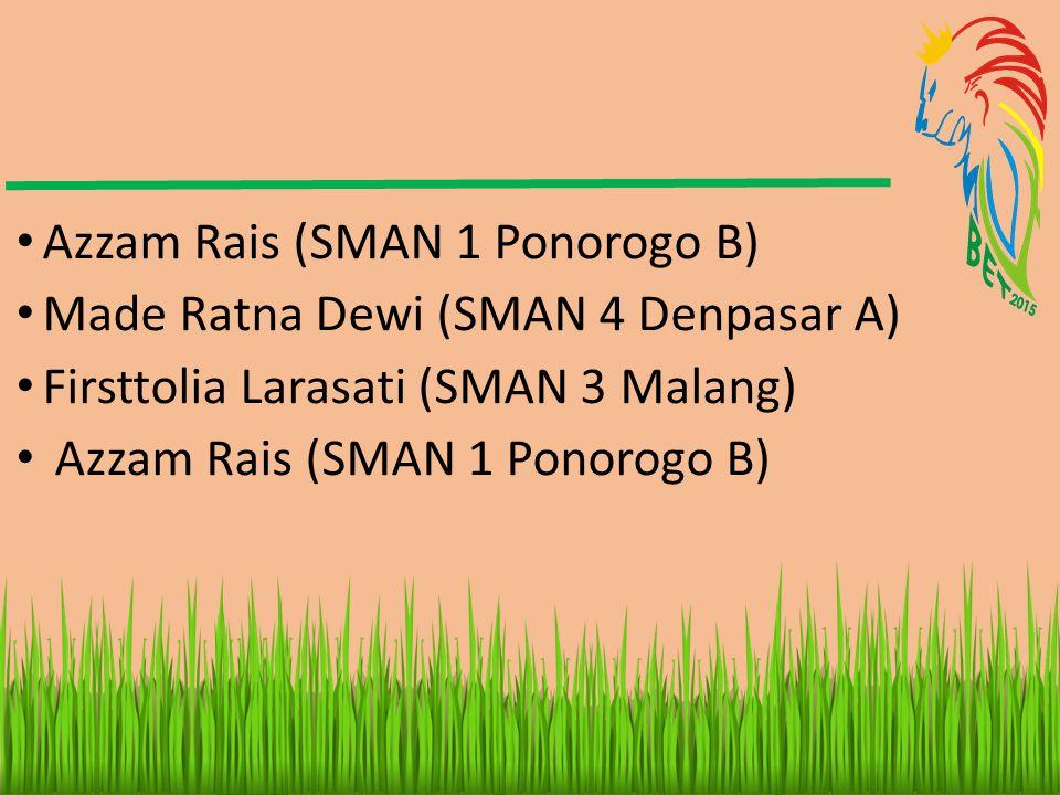 Azzam Rais (SMAN 1 Ponorogo B)