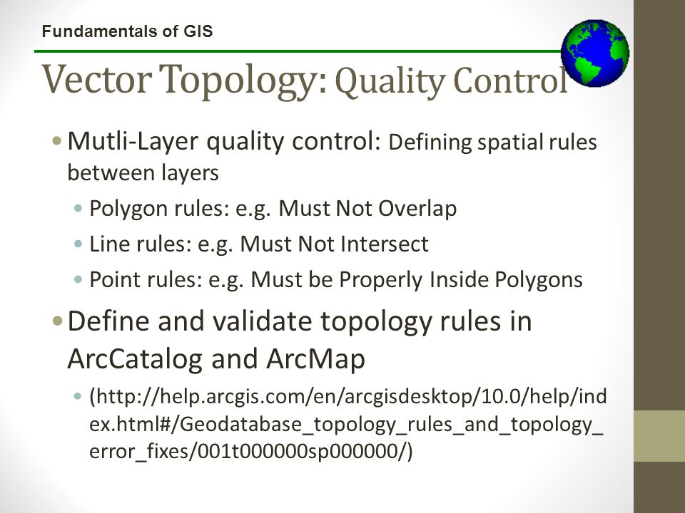 Vector Topology: Quality Control