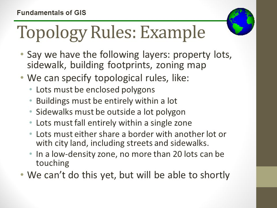 Topology Rules: Example