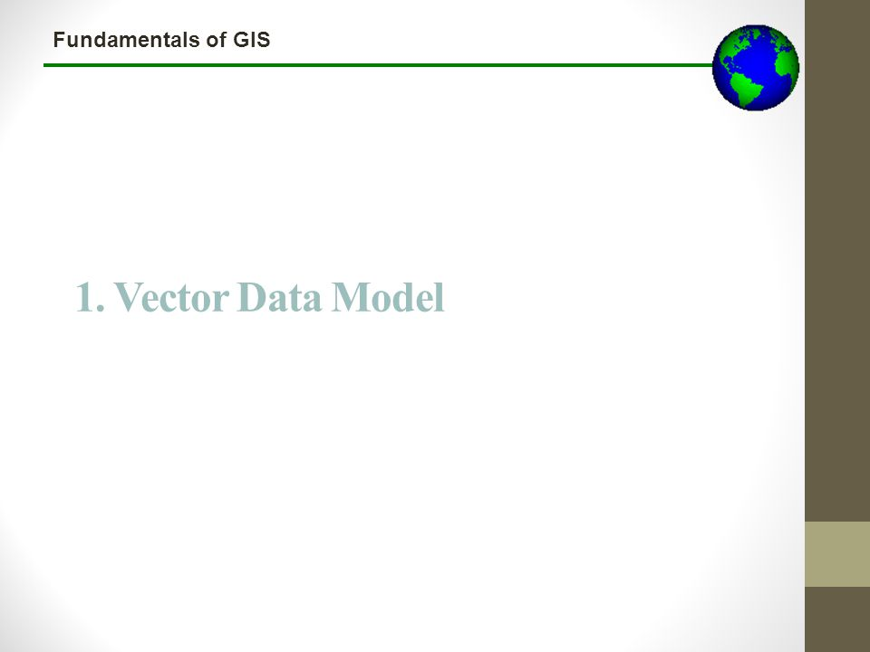 Lecture 3b 1. Vector Data Model