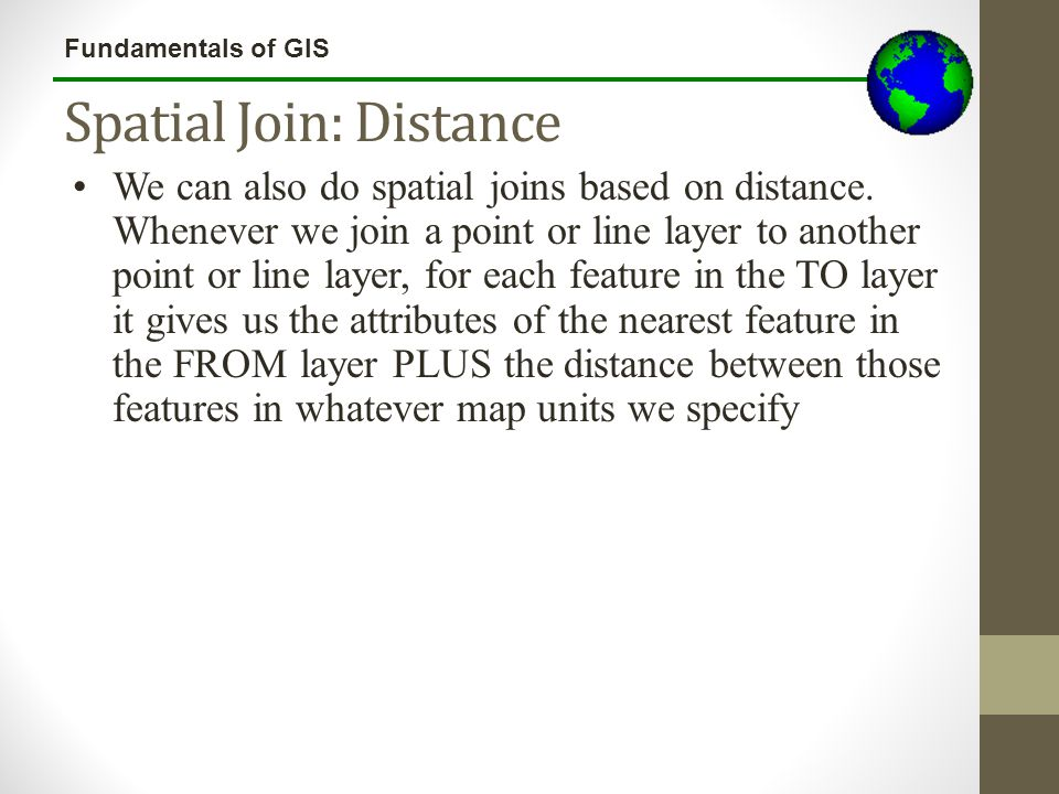 Spatial Join: Distance