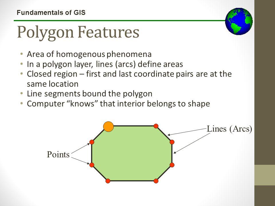 Polygon Features Area of homogenous phenomena