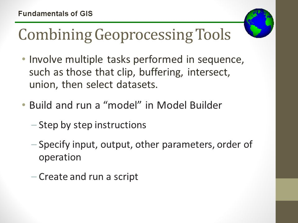 Combining Geoprocessing Tools