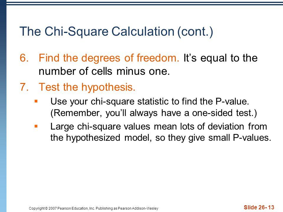 The Chi-Square Calculation (cont.)