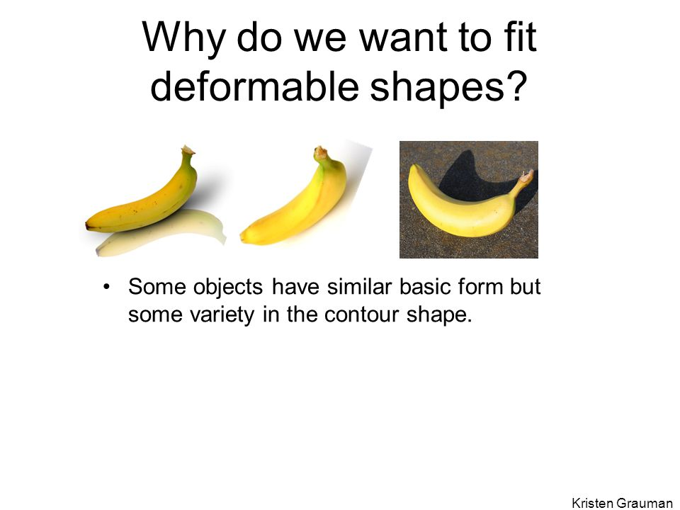 Why do we want to fit deformable shapes