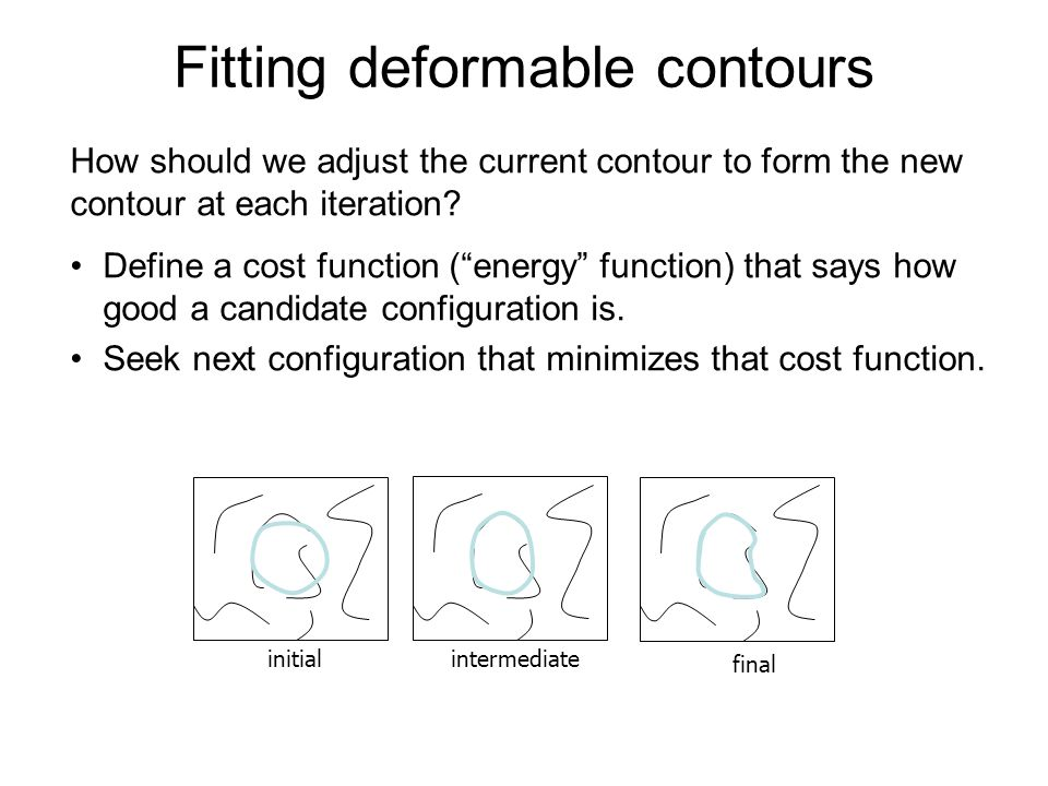 Fitting deformable contours