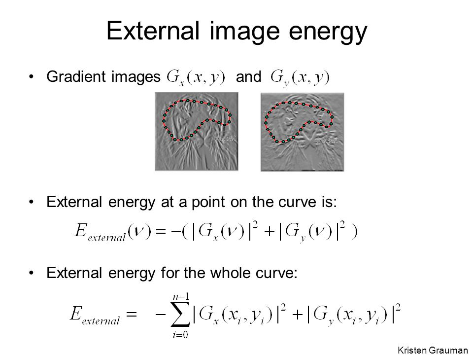 External image energy Gradient images and