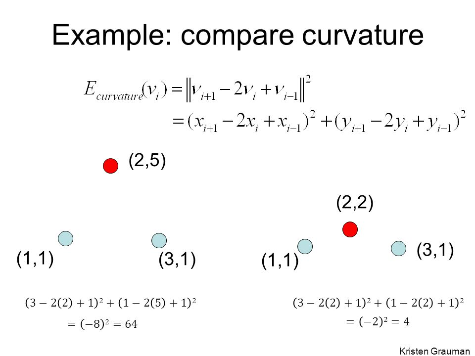 Example: compare curvature