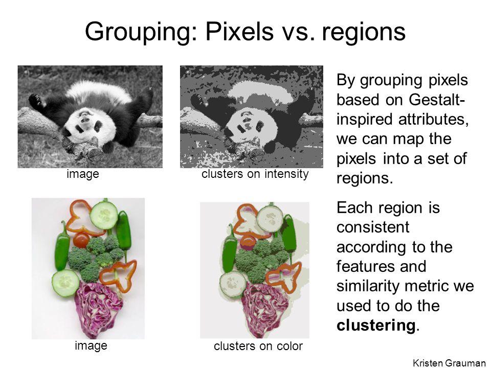 Grouping: Pixels vs. regions