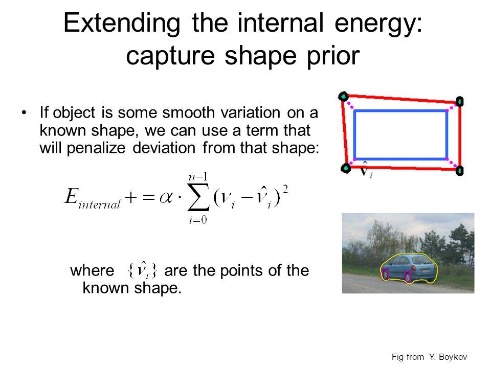 Extending the internal energy: capture shape prior