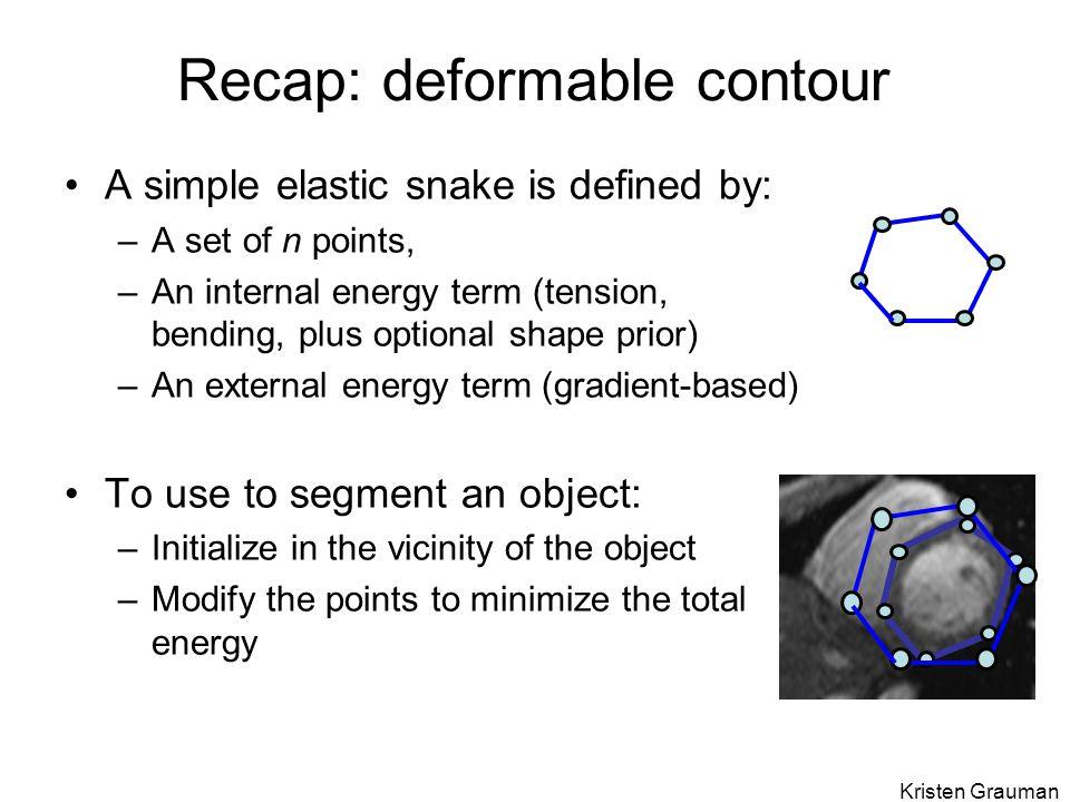 Recap: deformable contour