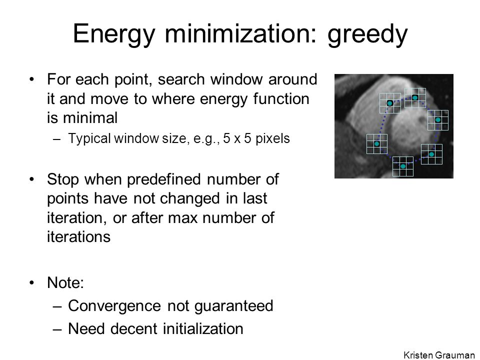 Energy minimization: greedy