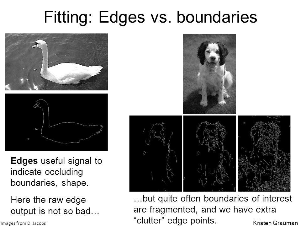 Fitting: Edges vs. boundaries