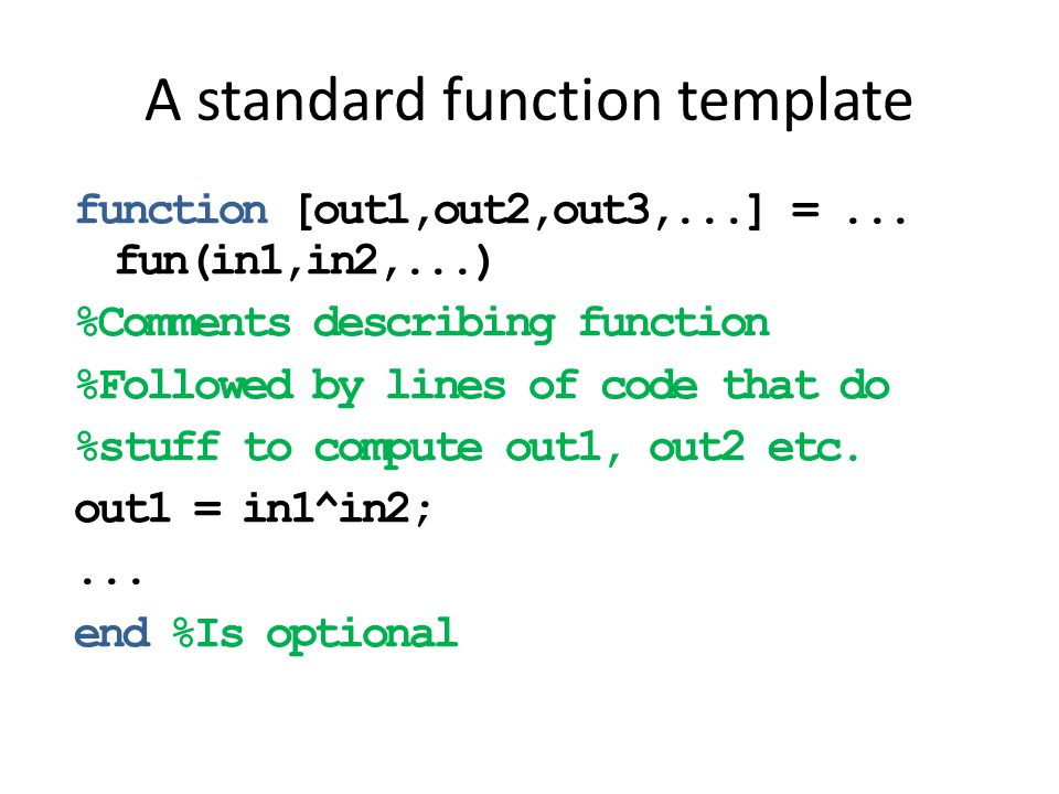 A standard function template