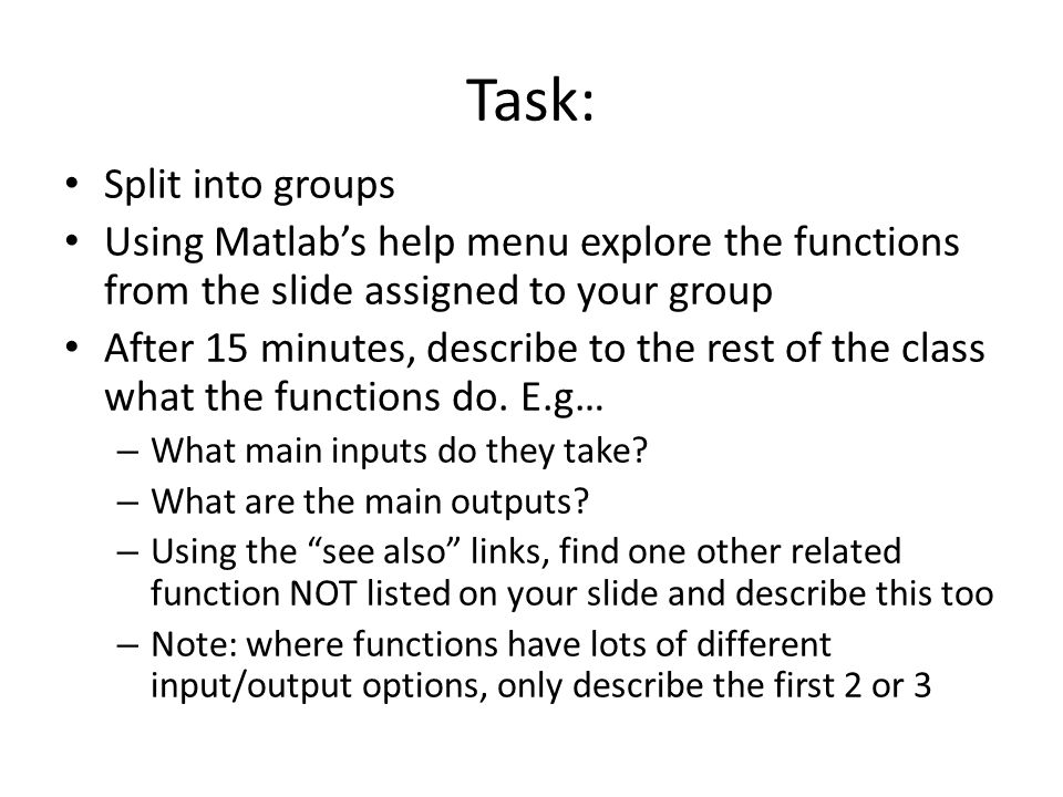 Task: Split into groups