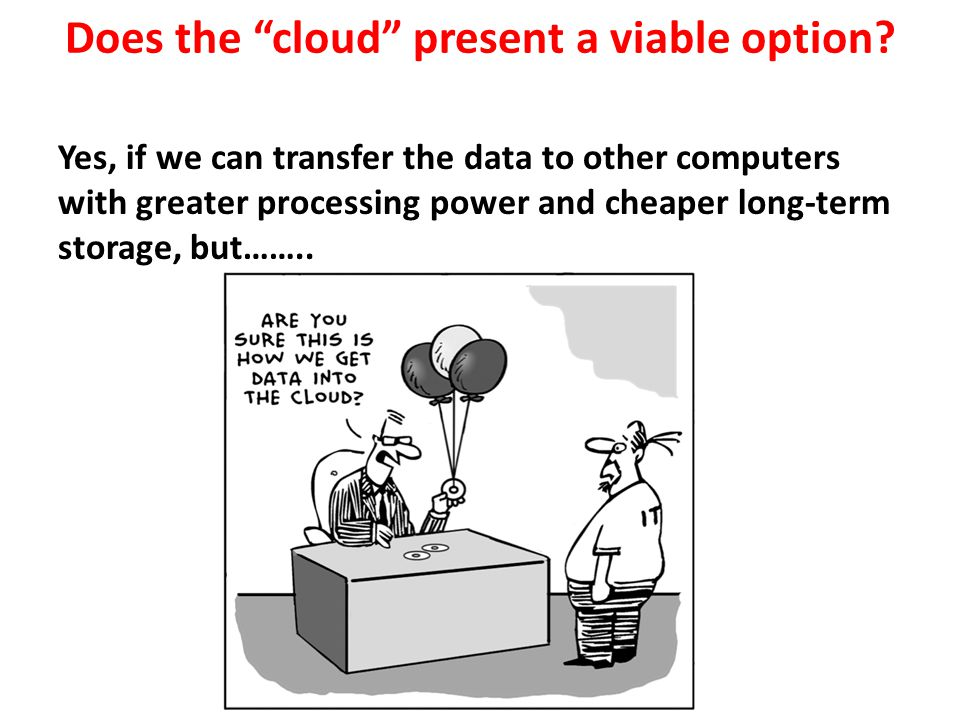 Does the cloud present a viable option