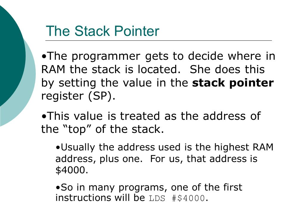 The Stack Pointer