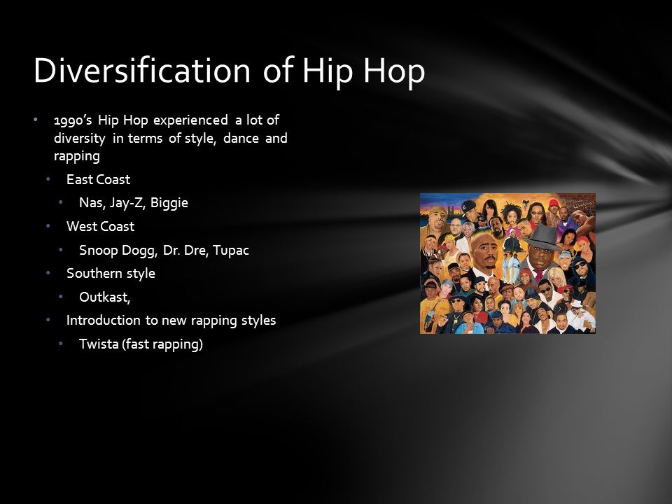 Diversification of Hip Hop