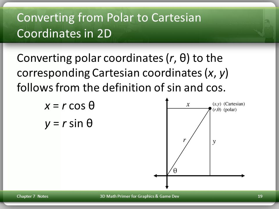 Converting from Polar to Cartesian Coordinates in 2D