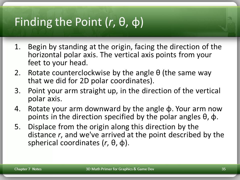 Finding the Point (r, θ, φ)