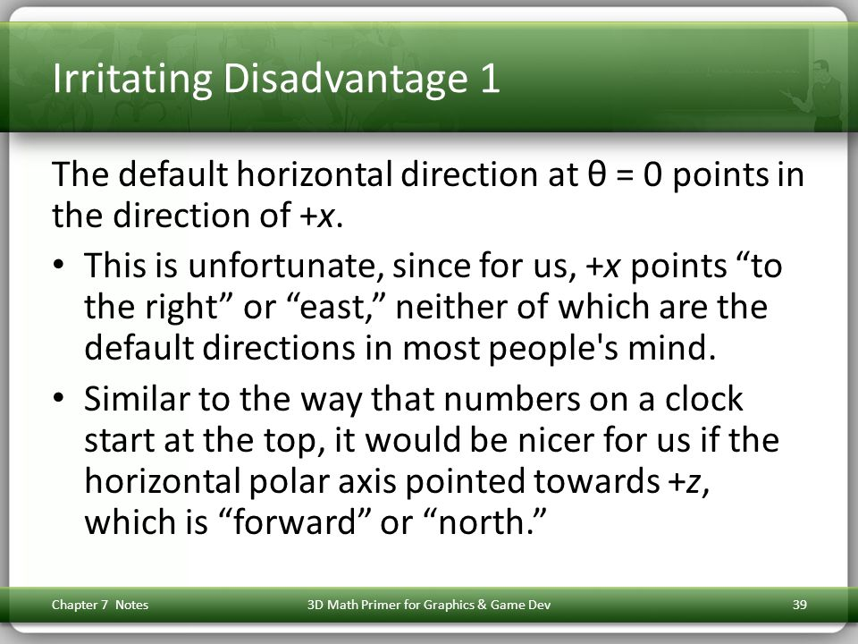 Irritating Disadvantage 1