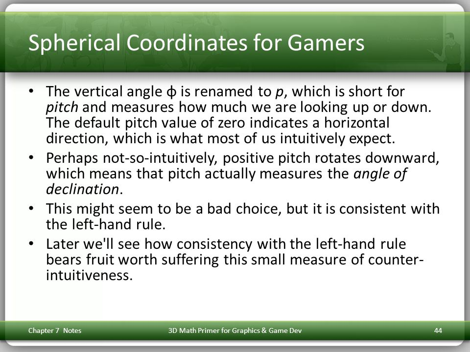 Spherical Coordinates for Gamers