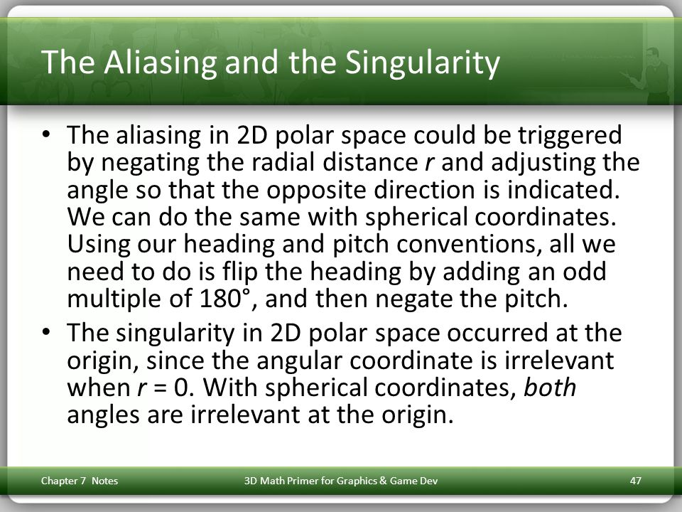 The Aliasing and the Singularity