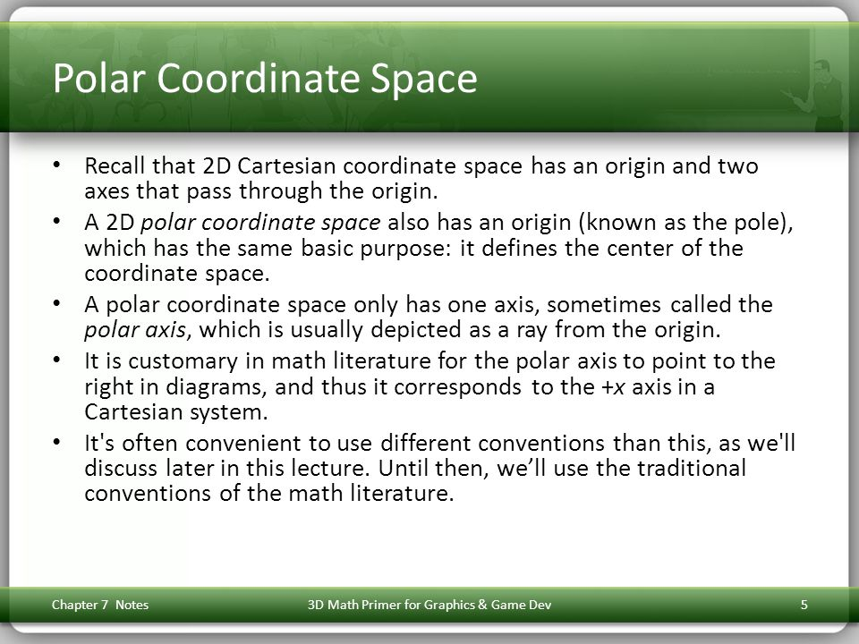 Polar Coordinate Space