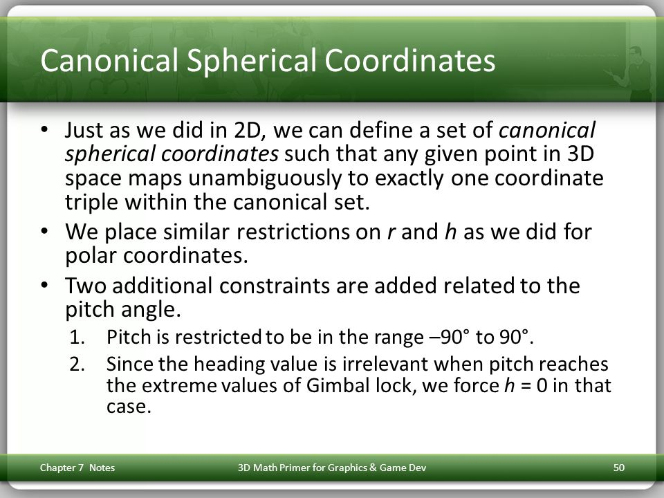 Canonical Spherical Coordinates