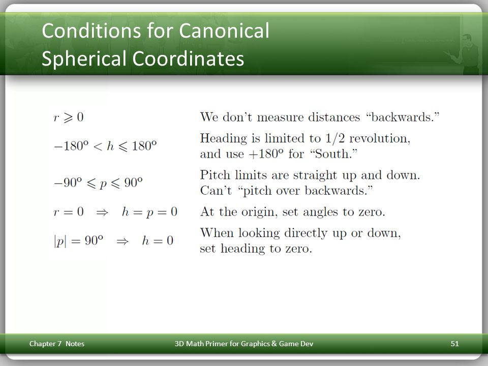 Conditions for Canonical Spherical Coordinates