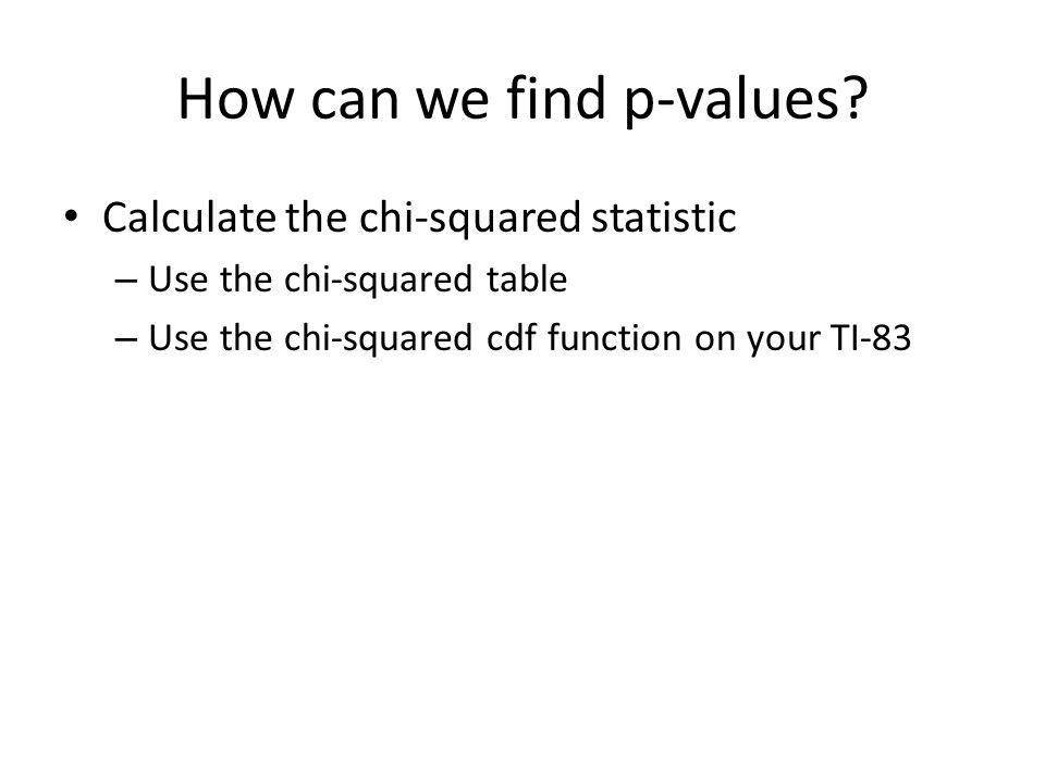 How can we find p-values