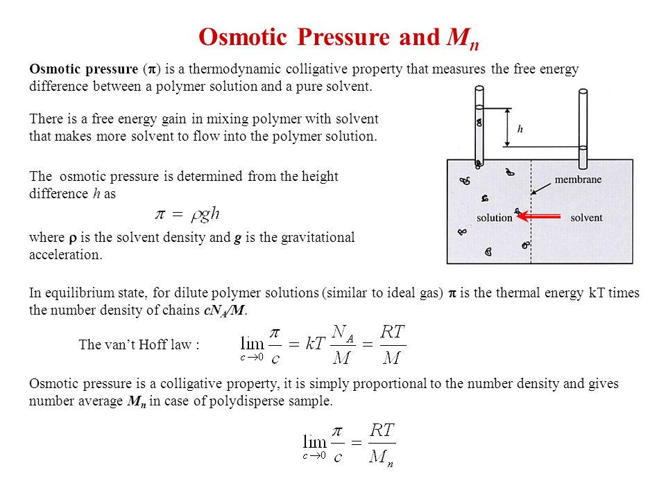 Osmotic Pressure and Mn