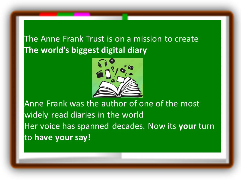 The Anne Frank Trust is on a mission to create