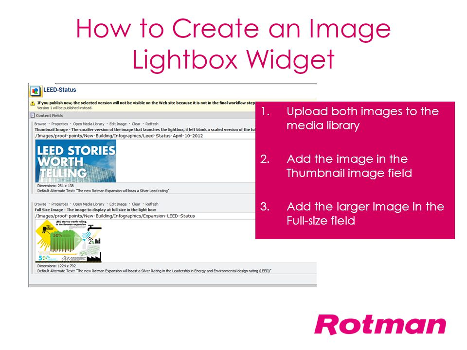 How to Create an Image Lightbox Widget