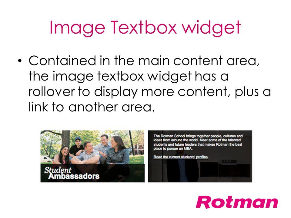 Image Textbox widget