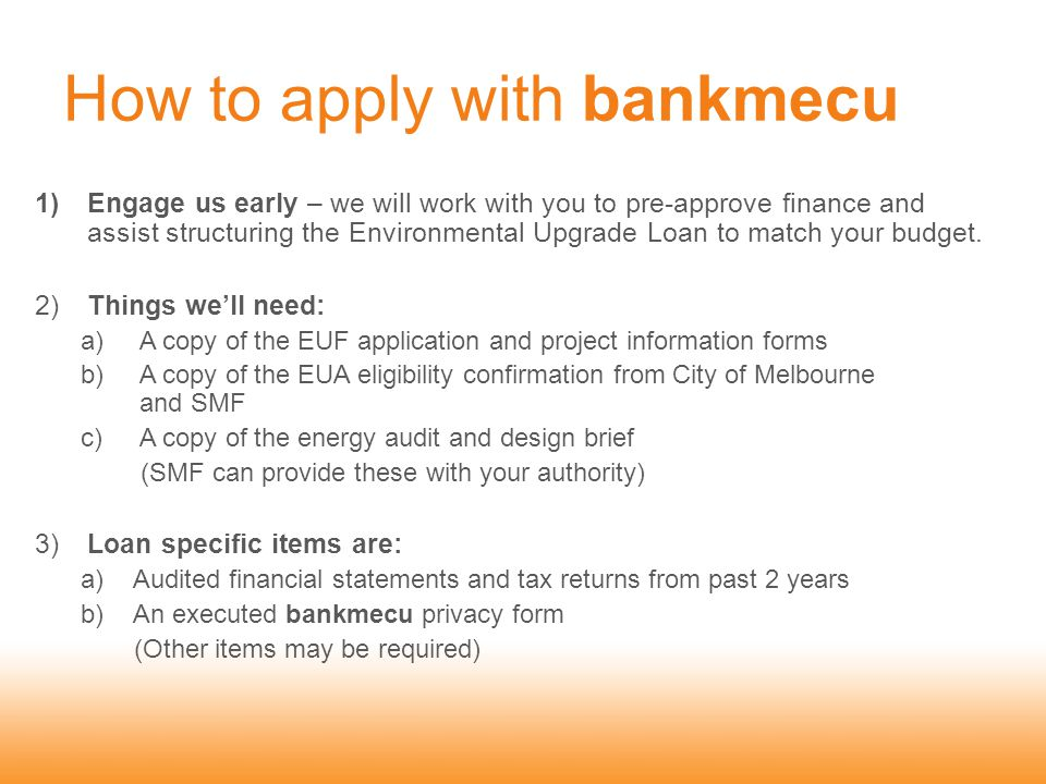 How to apply with bankmecu