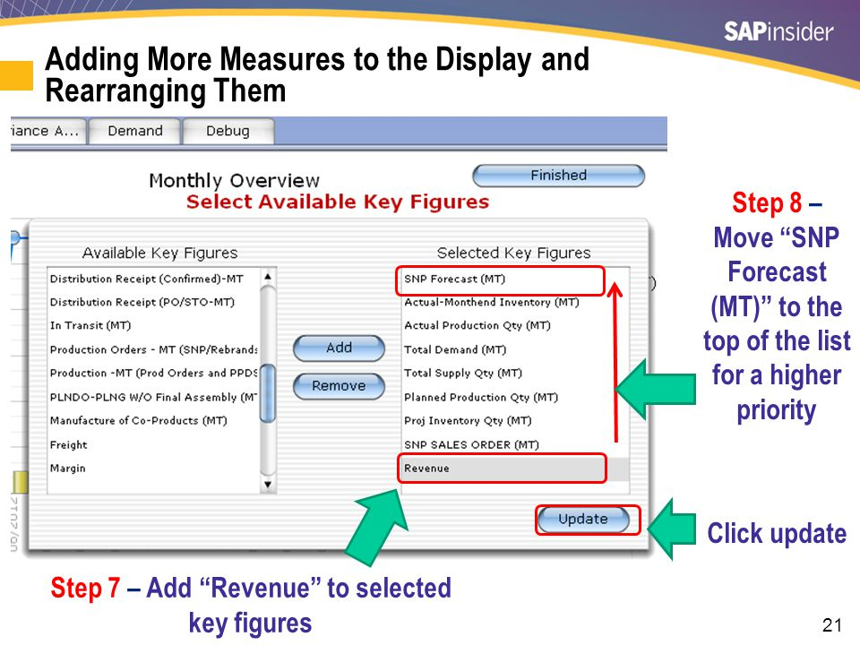 Step 10 – Revenue is now a selectable option