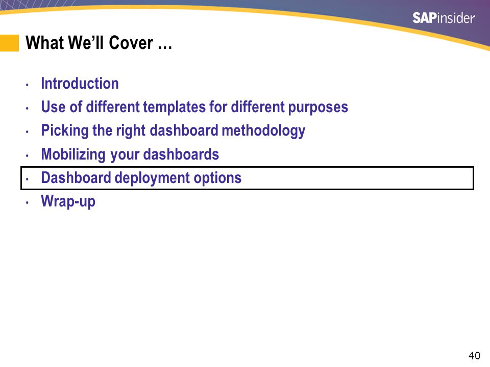 The Strategic Dashboard Release Plan