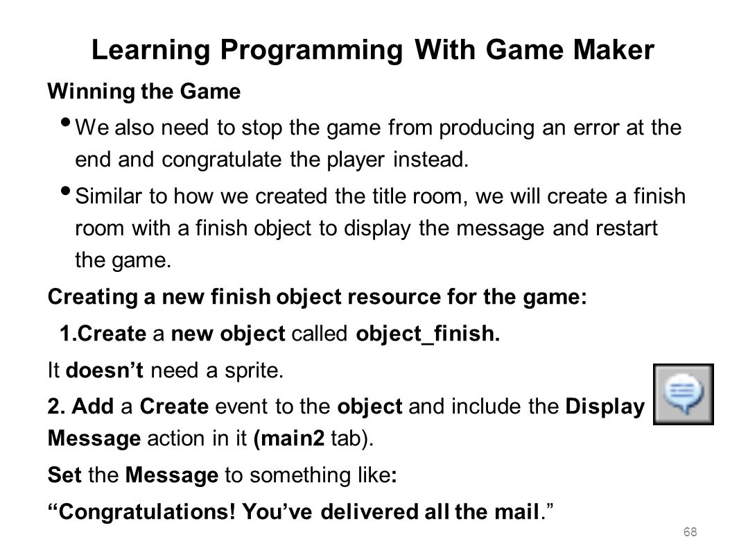 Learning Programming With Game Maker
