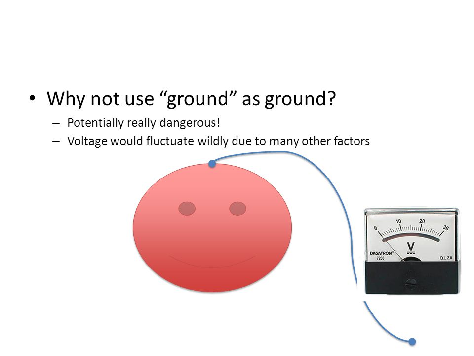 Why not use ground as ground