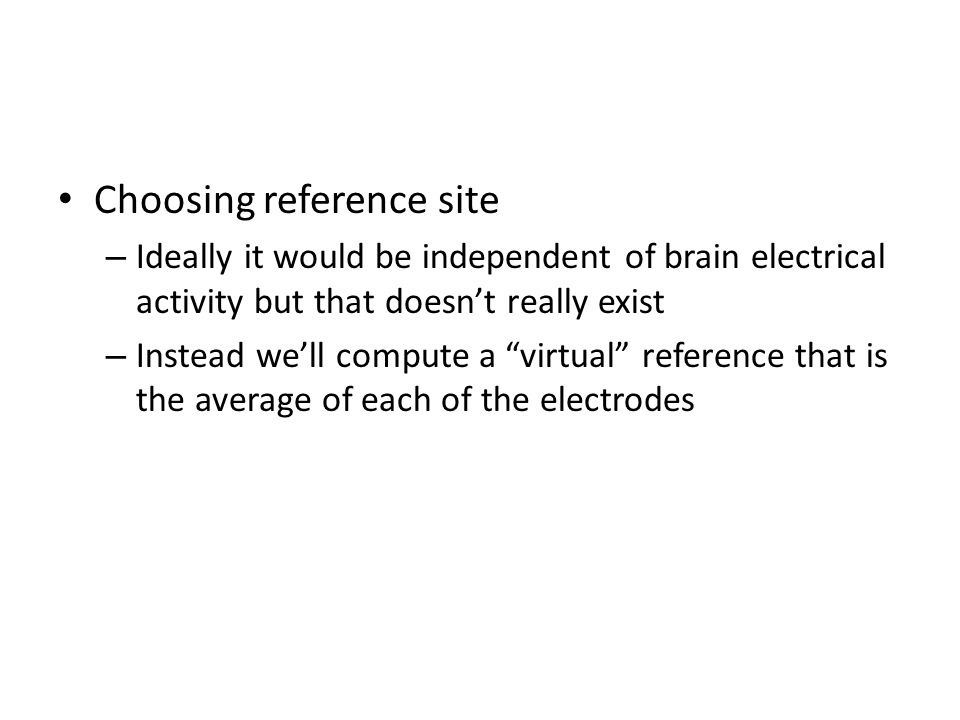 Choosing reference site